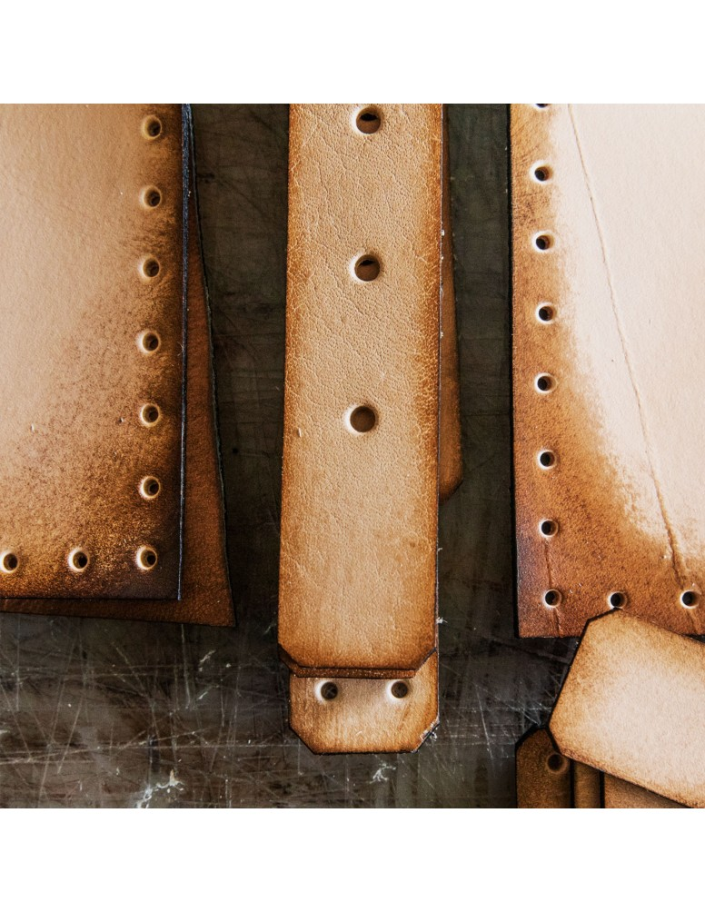 Leather Knife Roll collaboration with Linny Kenney Leather.