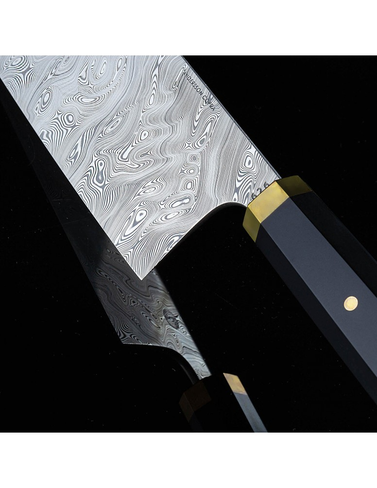 Nakiri LS150 limited edition Damasteel chef's vegetable knife by Andersson Copra.